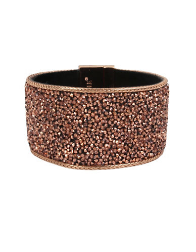 Kenneth Cole New York Crystal Sprinkle Statement Bracelet-ROSE GOLD-One Size