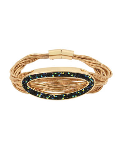 Kenneth Cole New York Corded Crystal Bracelet-GREEN-One Size