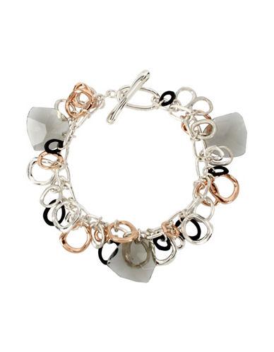Robert Lee Morris Soho Stone Chain Link Bracelet-MULTI-One Size