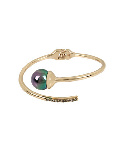 Kenneth Cole New York Peacock Pearl & Stone Cuff Bracelet-GREEN-One Size