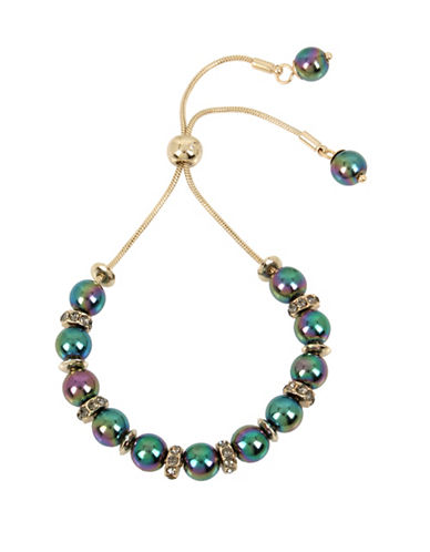 Kenneth Cole New York Peacock Pearl & Stone Bracelet-GREEN-One Size
