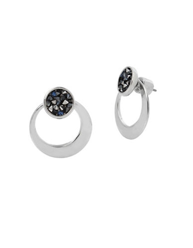 Kenneth Cole New York Sprinkle Stone and Disc Earrings-BLUE-One Size