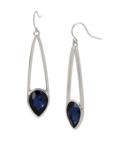 Kenneth Cole New York Crystal Linear Drop Earrings-BLUE-One Size