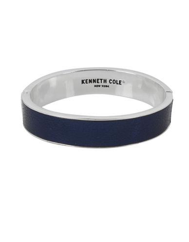 Kenneth Cole New York Leather Hinge Bracelet-BLUE-One Size