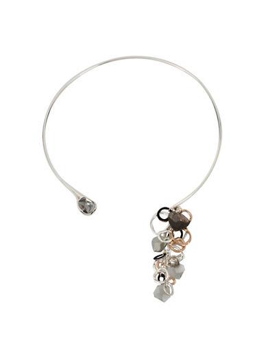 Robert Lee Morris Soho Black Diamond Chain Collar Necklace-BLACK-One Size