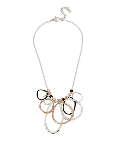 Robert Lee Morris Soho Tri-Tone Orbital Frontal Necklace-GREY-One Size
