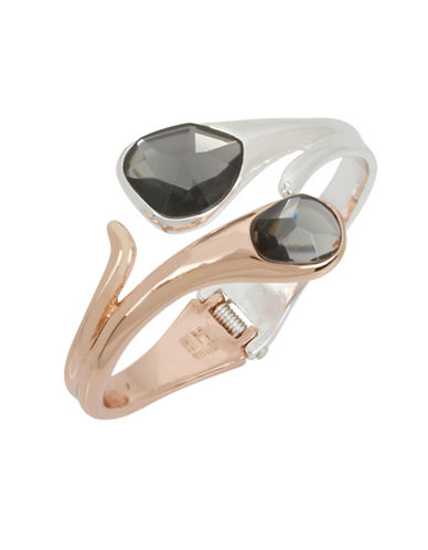 Robert Lee Morris Soho Two-Tone Stone Bypass Cuff-MULTI-One Size