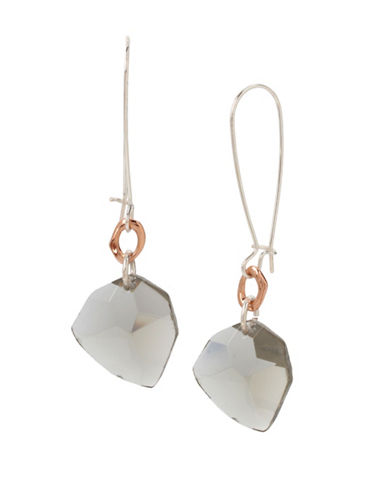 Robert Lee Morris Soho Stone Drop Earrings-WHITE-One Size