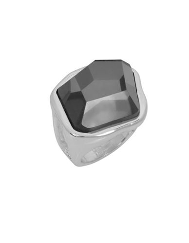 Robert Lee Morris Soho Shake It Up Stone Sculptural Ring-SILVER-One Size