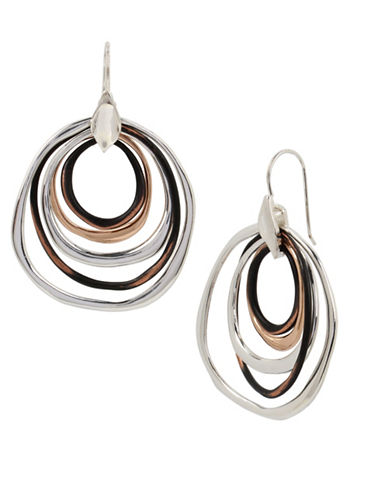 Robert Lee Morris Soho Mixed Metal Orbital Earrings-BLACK-One Size