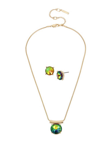 Kenneth Cole New York Pendant Necklace & Earring Set-MULTI-One Size