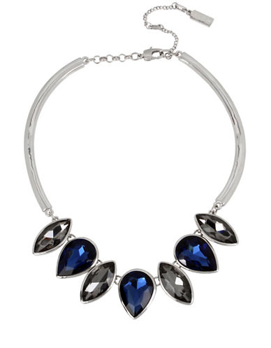 Kenneth Cole New York Crystal Frontal Necklace-BLUE-One Size