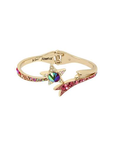 Betsey Johnson Celestial Crystal Hinged Bracelet-ASSORTED-One Size