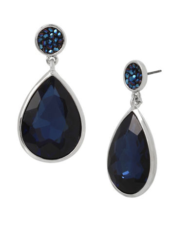 Kenneth Cole New York Crystal Post Drop Earrings-BLUE-One Size