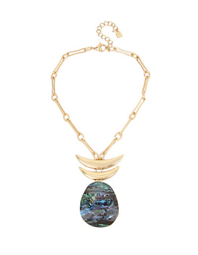 Robert Lee Morris Soho Midnight Hour Linked Pendant Necklace-GOLD-One Size
