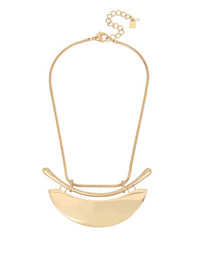 Robert Lee Morris Soho Midnight Hour Plaque Frontal Necklace-GOLD-One Size