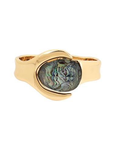 Robert Lee Morris Soho Midnight Hour Hinge Bracelet-GOLD-One Size