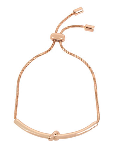 Kenneth Cole New York Knot Bar Bracelet-ROSE GOLD-One Size