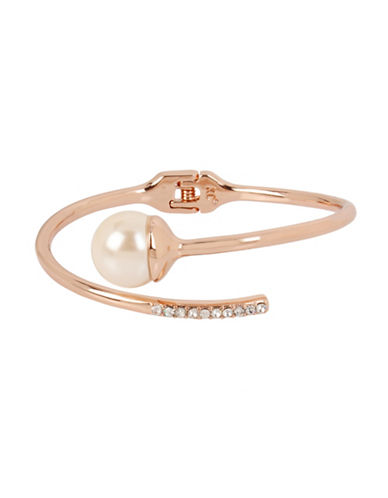 Kenneth Cole New York Faux Pearl and Crystal Bracelet-ROSE GOLD-One Size