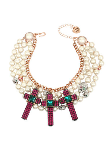 Betsey Johnson Duchess of Betseyville Two-Tone Statement Necklace-ASSORTED-One Size