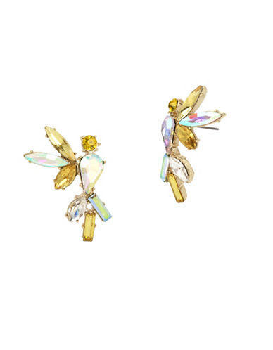 Betsey Johnson Cockatoo Stud Earrings-YELLOW-One Size