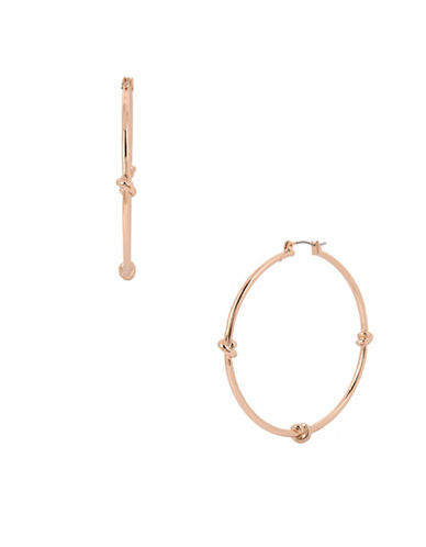 Kenneth Cole New York Large Knot Hoop Earrings-ROSE GOLD-One Size