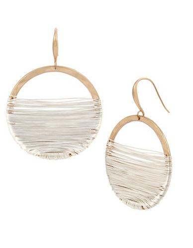 Robert Lee Morris Soho Black Crystal Wire-Wrapped Gypsy Drop Earrings-MULTI-One Size