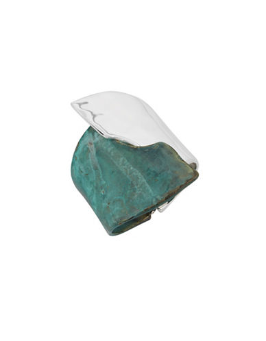 Robert Lee Morris Soho Fade Away Crystal Bangle Bracelet-GREEN-One Size