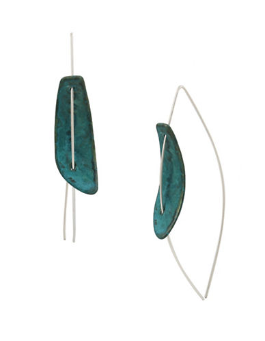 Robert Lee Morris Soho Fade Away Crystal Stick Earrings-GREEN-One Size