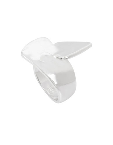 Robert Lee Morris Soho Fade Away Crystal Interlocking Ring-SILVER-7.5
