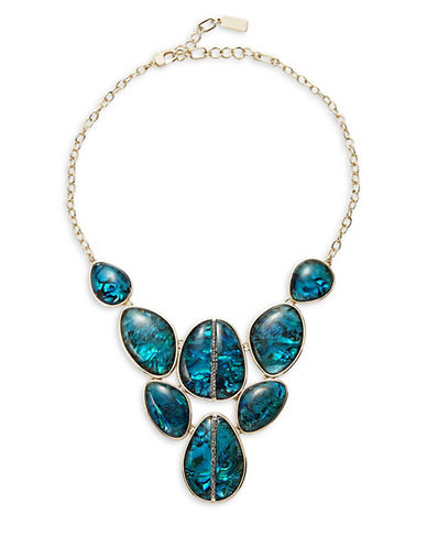 Abalone Goldtone Bib Necklace by Kenneth Cole New York