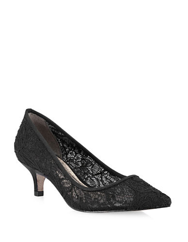 Adrianna Papell Lois Lace Pumps-BLACK-7.5