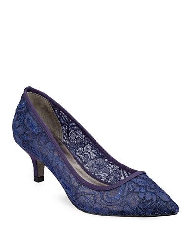 Adrianna Papell Lois Lace Kitten Heels-MIDNIGHT-9.5