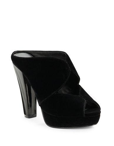Adrianna Papell Garret Velvet Cutout Platform Heels-BLACK VELVET-6.5 88401559_BLACK VELVET_6.5