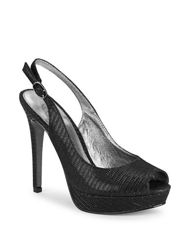 Adrianna Papell Rita Platform Peep Toe Pumps-BLACK-6