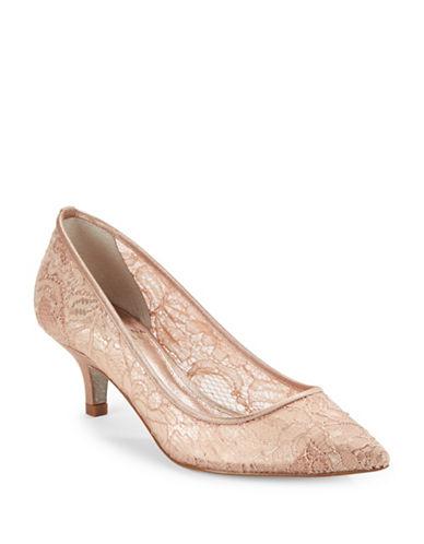 Adrianna Papell Lois Lace Kitten Heels-BLUSH-9