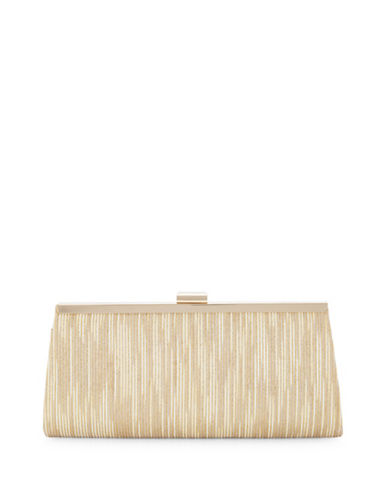 Adrianna Papell Storm Clutch Bag-GOLD-One Size