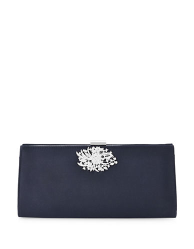Adrianna Papell Stacee Brooch Clutch-NAVY-One Size