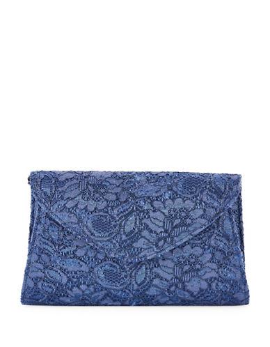 Adrianna Papell Seta Midnight Clutch-BLUE-One Size