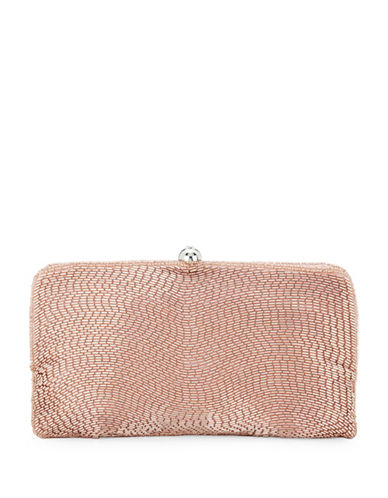 Adrianna Papell Navi Beaded Clutch-PINK-One Size
