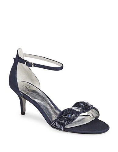 Adrianna Papell Aerin Embellished Open-Toe Sandals-NAVY-7
