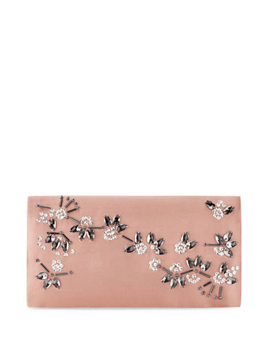 Adrianna Papell Stella Refined Clutch-PINK-One Size