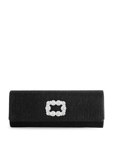 Adrianna Papell Sookie Textured Clutch-BLACK-One Size