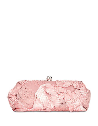 Adrianna Papell Sia Textured Clutch-PINK-One Size