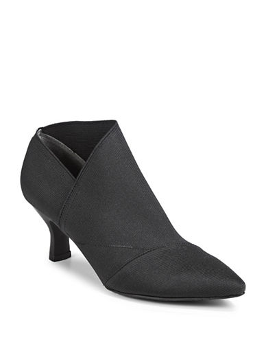 Adrianna Papell Hayes Leather Booties-BLACK-8.5