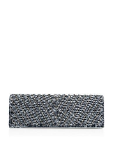 Adrianna Papell Noreen Textured Clutch-GREY-One Size