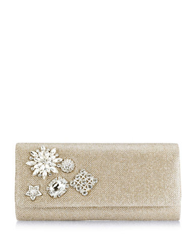 Adrianna Papell Sunny Textured Clutch-GREY-One Size