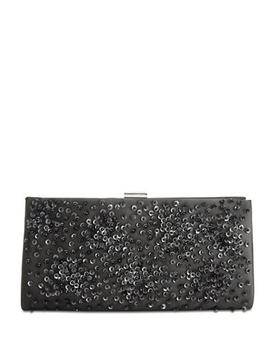 Adrianna Papell Norah Sequined Clutch-BLACK-One Size