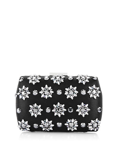 Adrianna Papell Vail Refined Clutch-BLACK-One Size