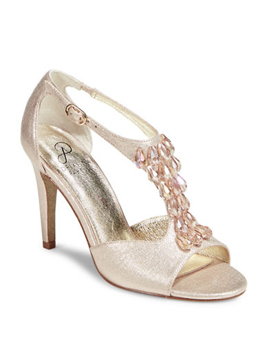 Adrianna Papell Adrianna Bead Dress Sandals-GOLD-7